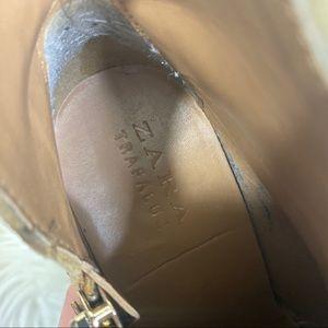 Zara Shoes - Zara Trafaluc Tan Heeled Booties